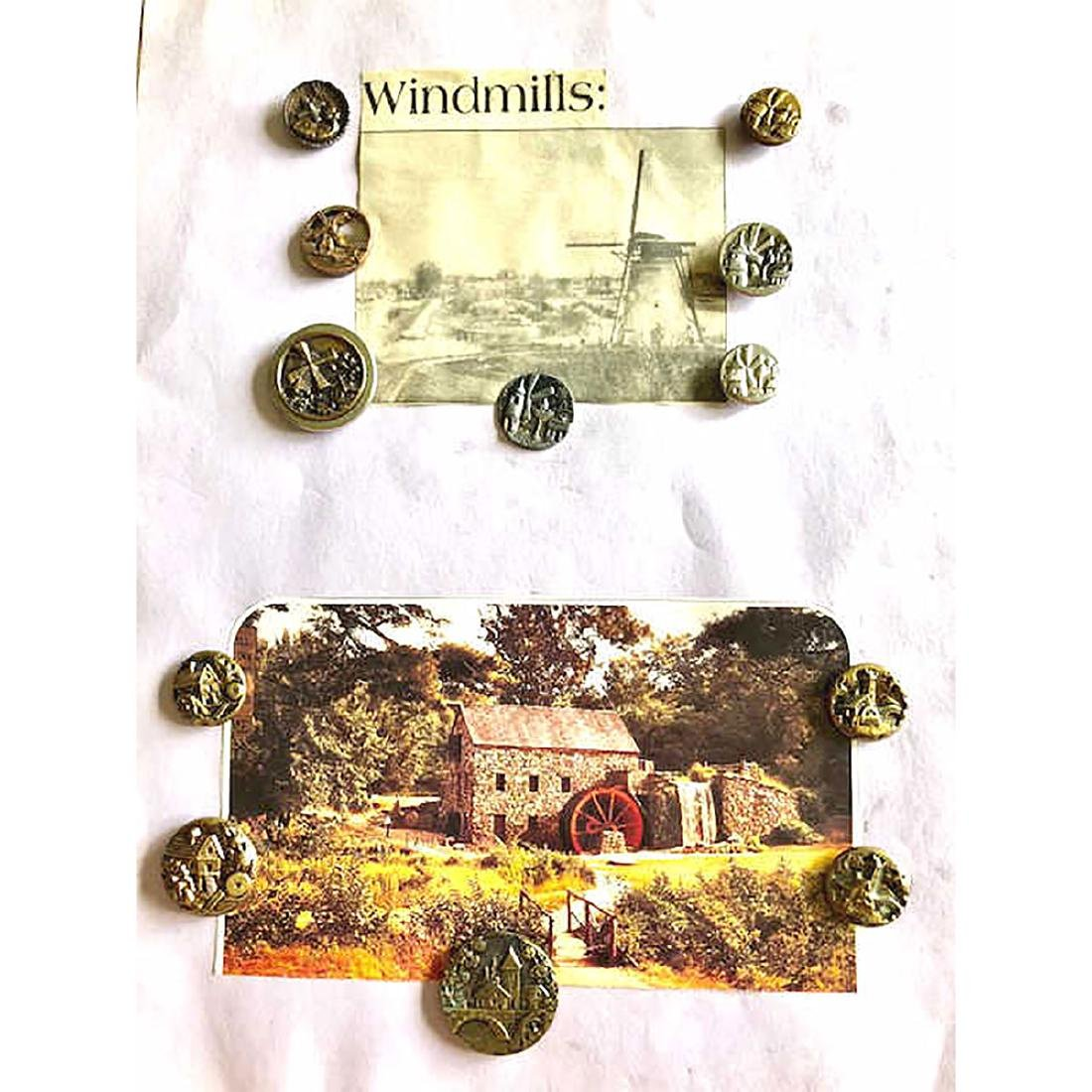 4 CARDS INCLUDING MUSICAL INSTRUMENT BUTTONS - 6