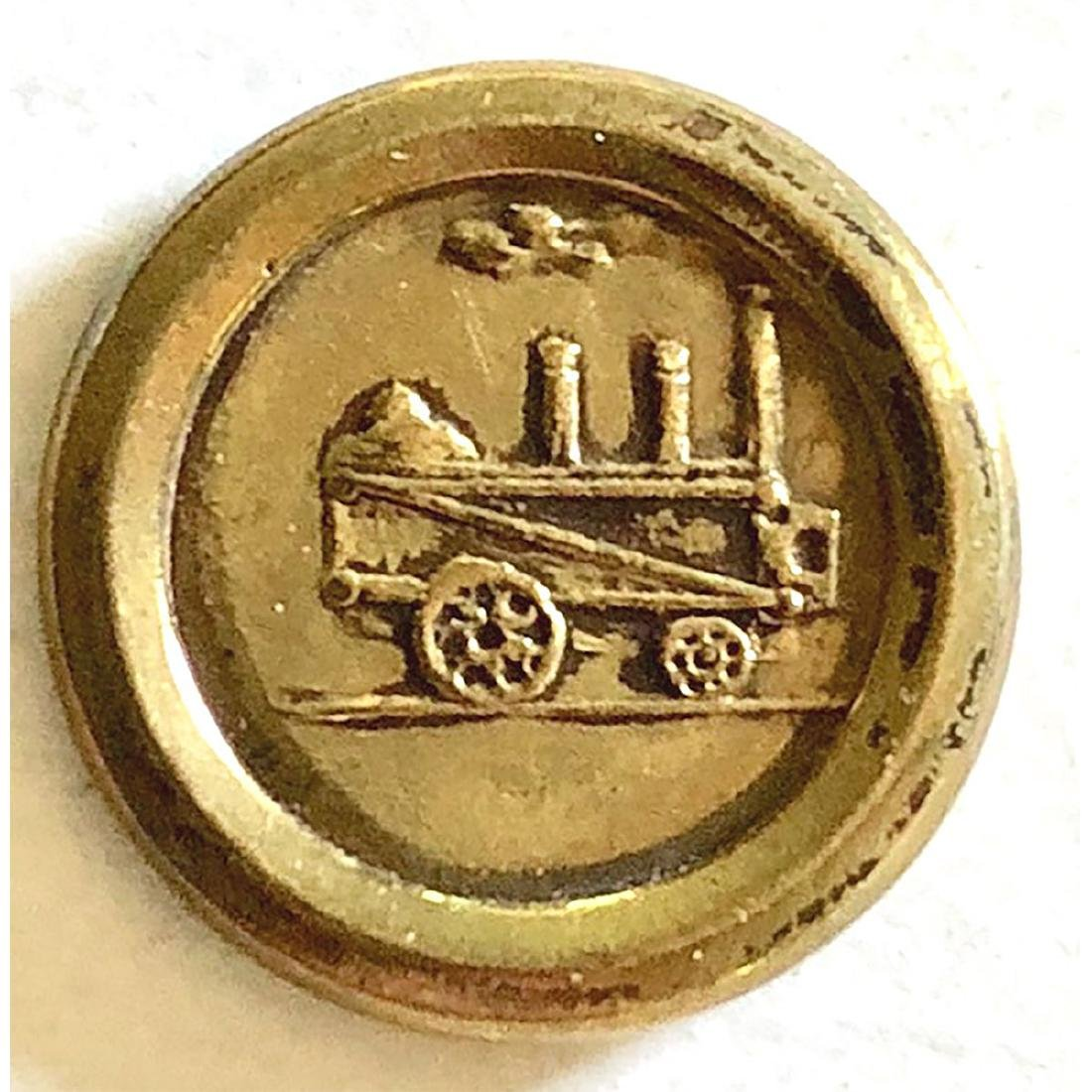 2 JACKSONIAN BUTTONS INCL. TRAIN & GOAT OR HORSE