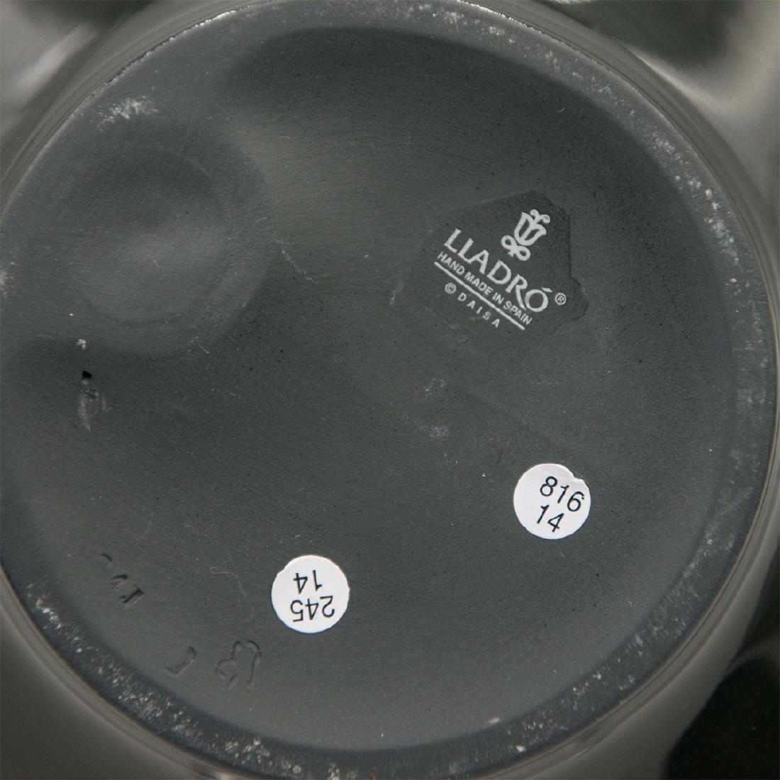 LLADRO NATUROFANTASTIC BLACK APPETIZER PLATE DISH - 3