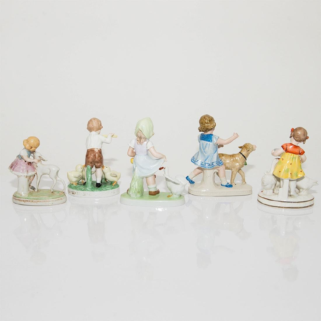 GROUP OF 5 VINTAGE GERMAN FIGURINES KIDS - 2