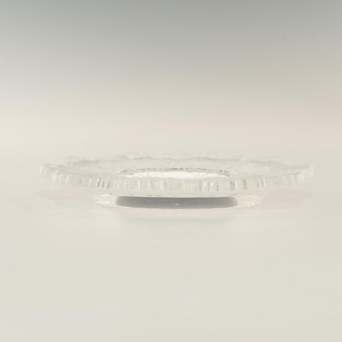 LALIQUE CRYSTAL HONFLEUR BOWL DISH PLATE ASHTRAY - 3