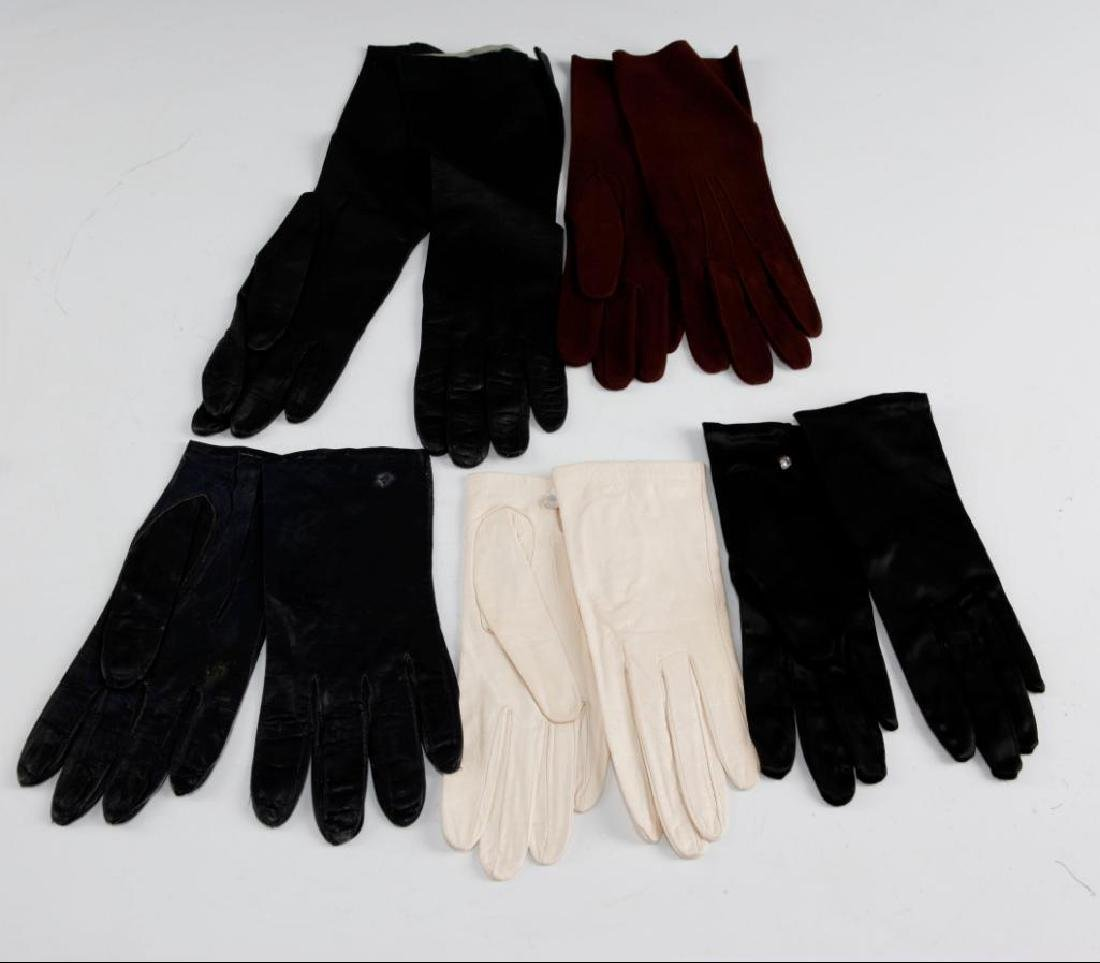 5 PAIRS OF VINTAGE ASSORTED LADIES GLOVES