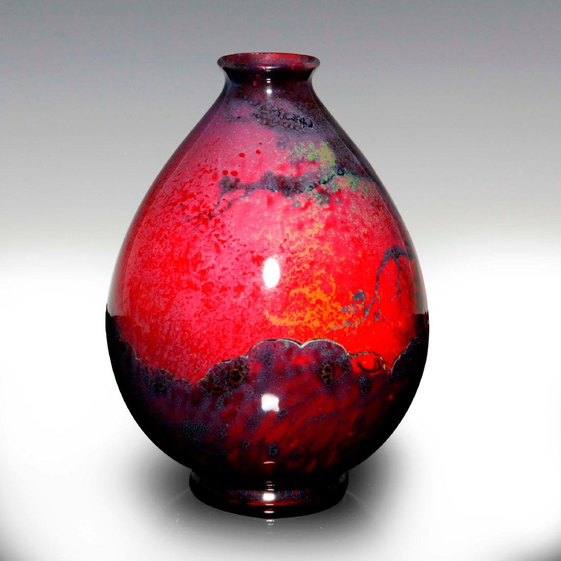 A FINE SUNG FLAMBE VASE WITH GNOMES IN THE FOREST - 2