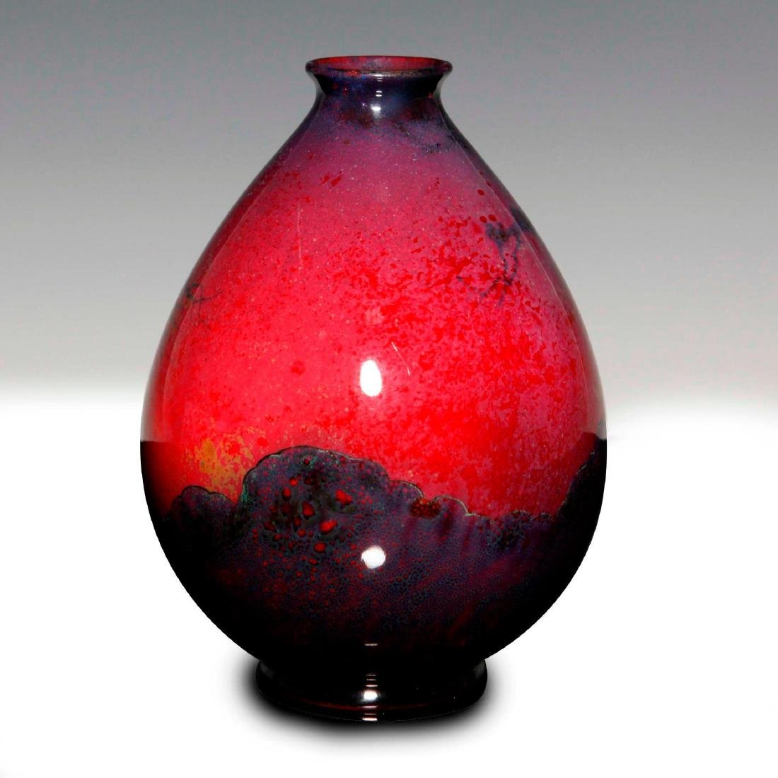 A FINE SUNG FLAMBE VASE WITH GNOMES IN THE FOREST - 3