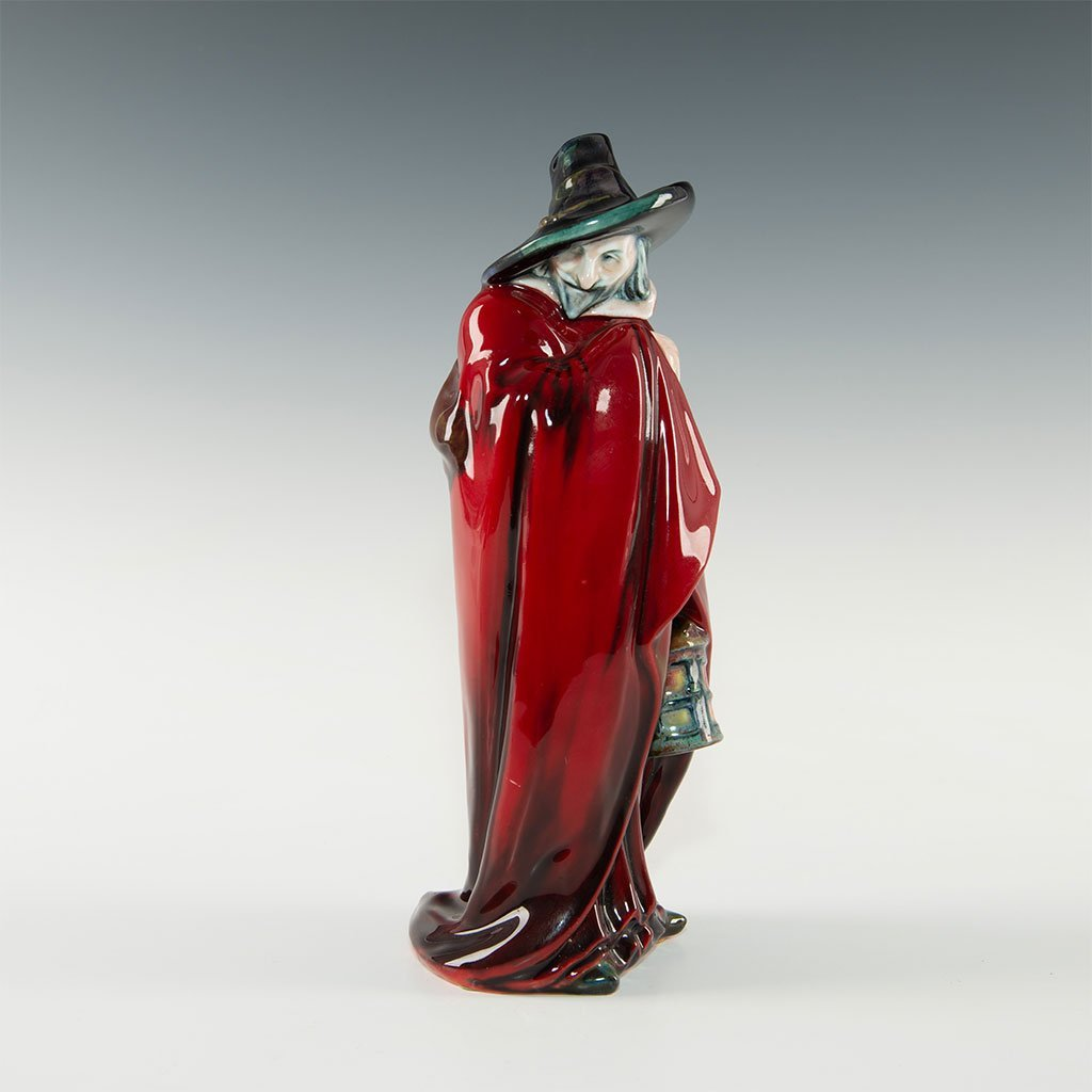 GUY FAWKES STUDY IN SUNG FLAMBE BY ROYAL DOULTON
