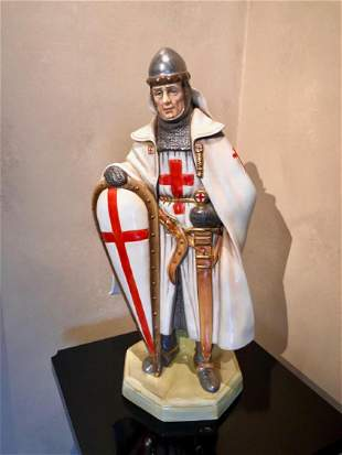 A ROYAL DOULTON PROTOTYPE FIGURE KNIGHT OF THE CRUSADES