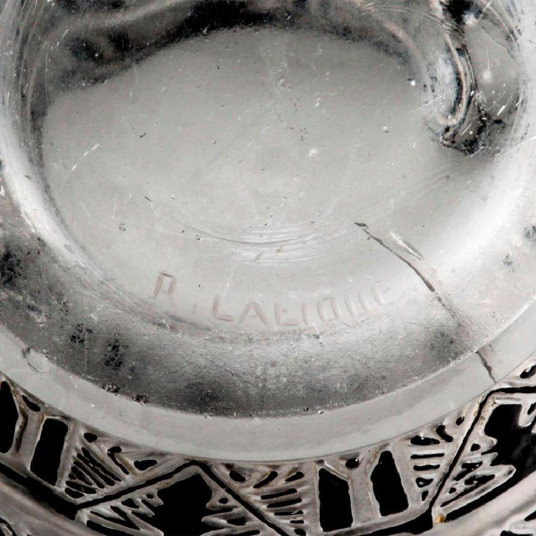 RENE LALIQUE LAGAMAR ART DECO GLASS VASE - 5