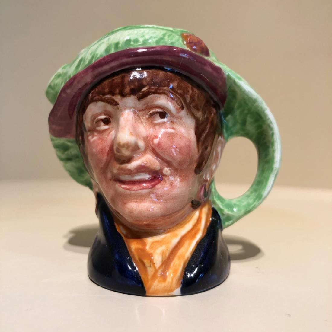 ROYAL DOULTON PEARLY GIRL MINI SIZE JUG WITH GREEN HAT