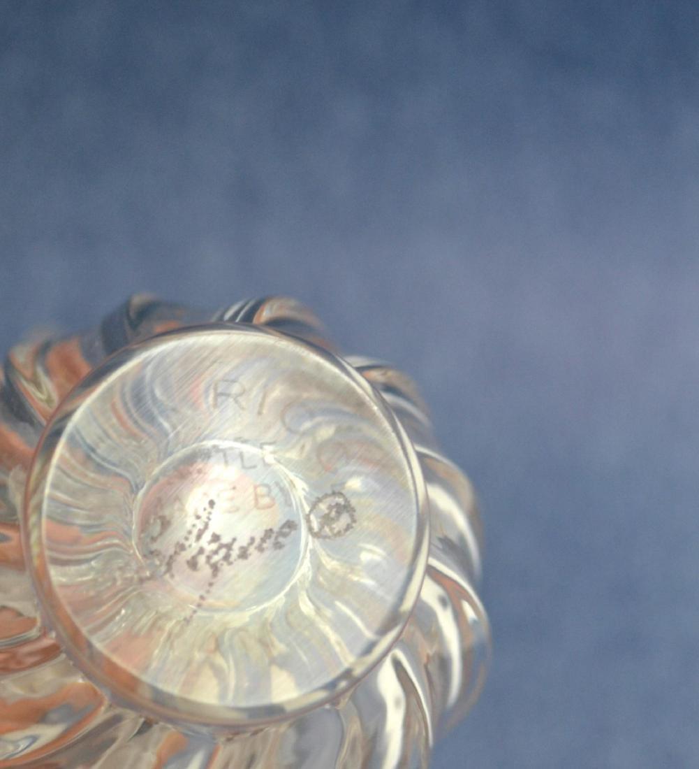 LALIQUE CRYSTAL PERFUME BOTTLE & VINTAGE PLAQUE - 3