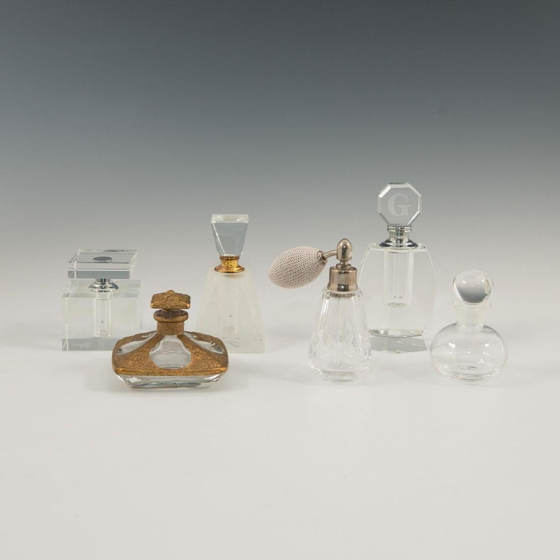 GROUP OF 12 CRYSTAL ART GLASS PERFUME BOTTLES LALIQUE - 2