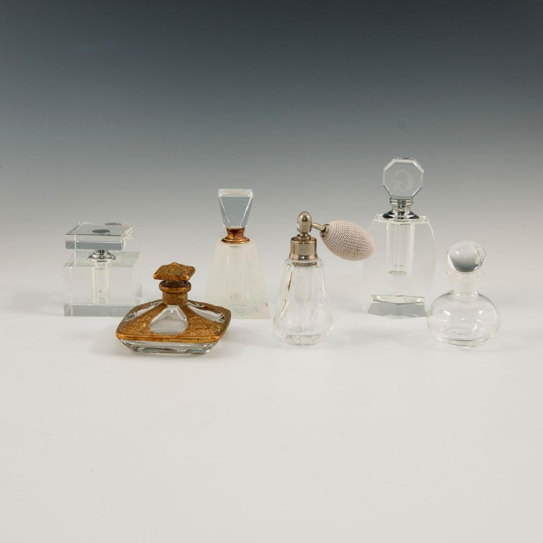 GROUP OF 12 CRYSTAL ART GLASS PERFUME BOTTLES LALIQUE - 3