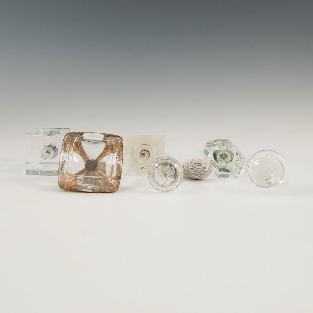 GROUP OF 12 CRYSTAL ART GLASS PERFUME BOTTLES LALIQUE - 4