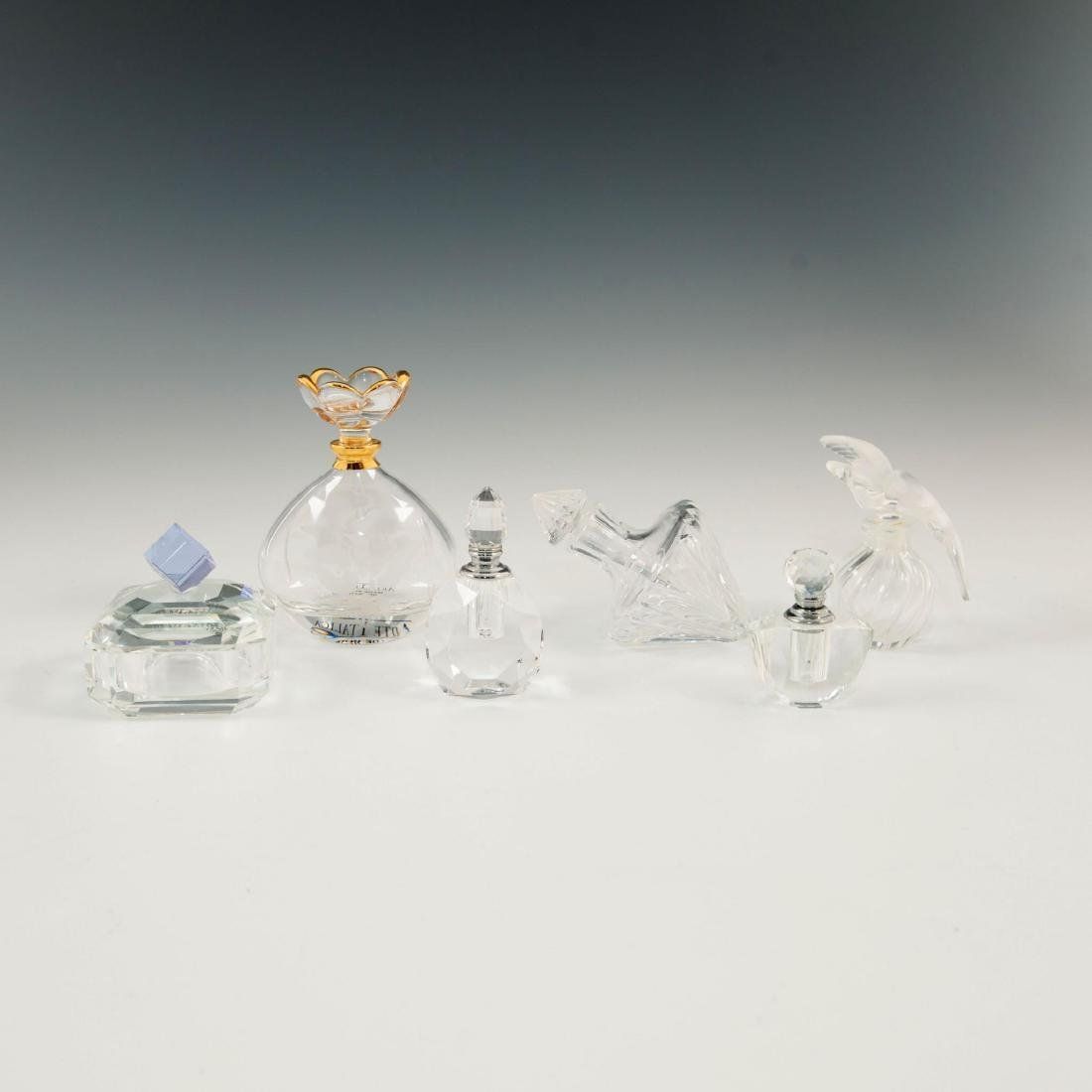 GROUP OF 12 CRYSTAL ART GLASS PERFUME BOTTLES LALIQUE - 6