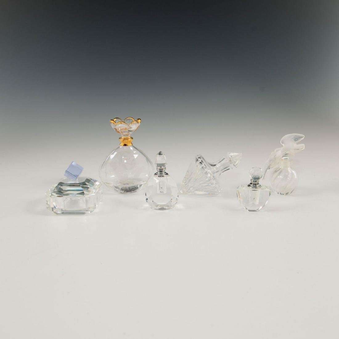 GROUP OF 12 CRYSTAL ART GLASS PERFUME BOTTLES LALIQUE - 7