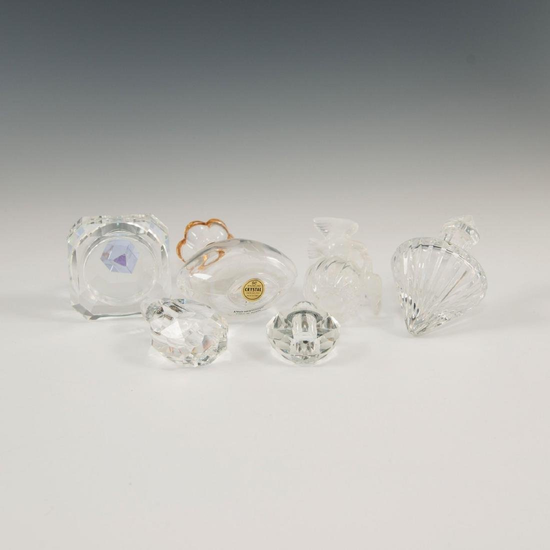 GROUP OF 12 CRYSTAL ART GLASS PERFUME BOTTLES LALIQUE - 9