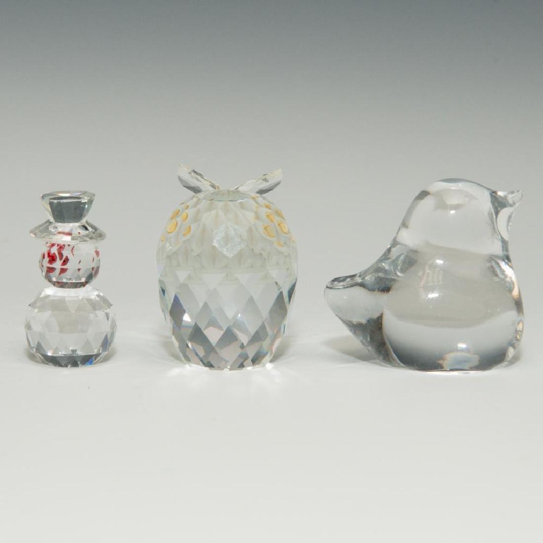 GROUP OF 3 DAUM SWAROWSKI CYRSTAL GLASS PAPERWEIGHT - 2