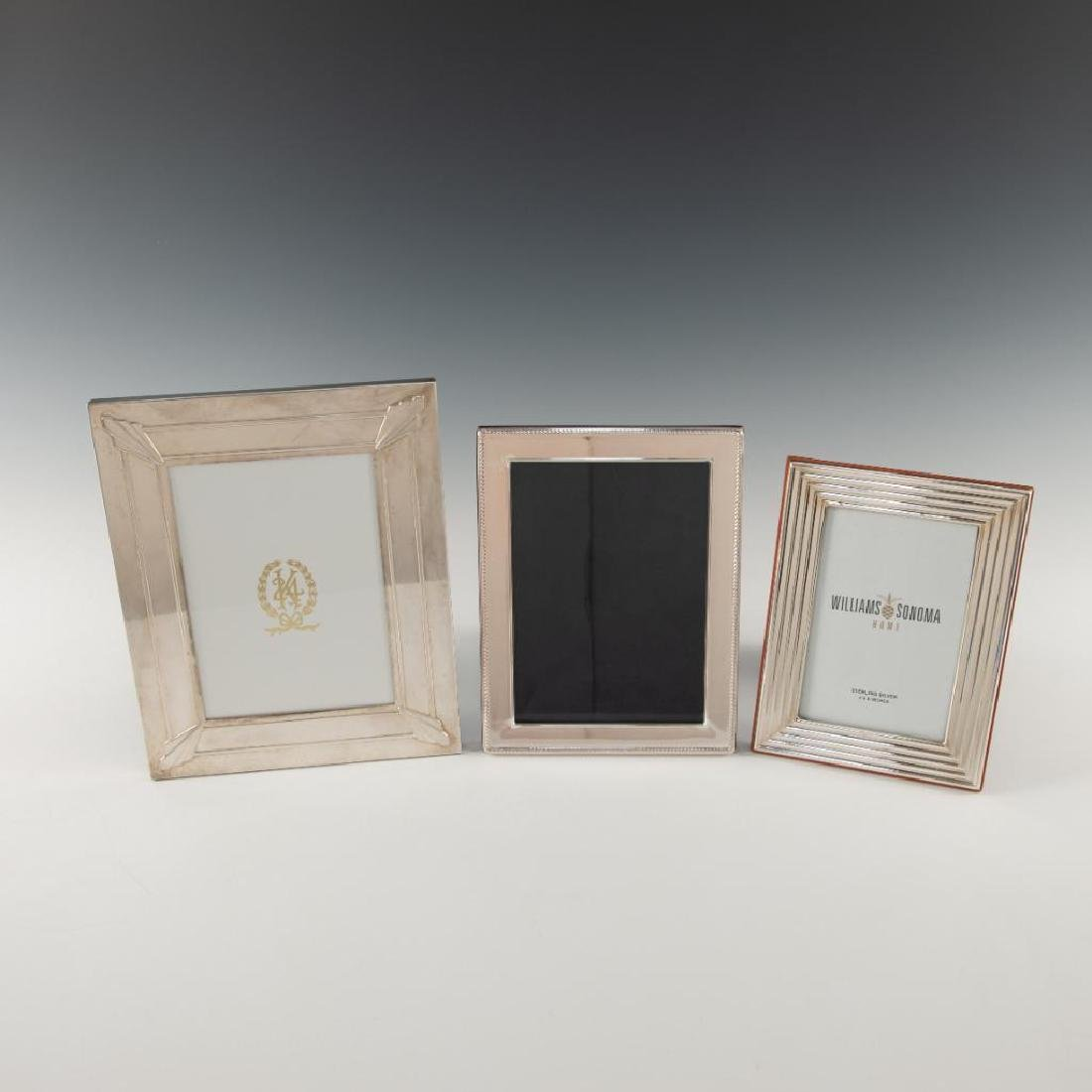 GROUP OF 3 STERLING SILVER PICTURE FRAMES LUNT WILLIAMS