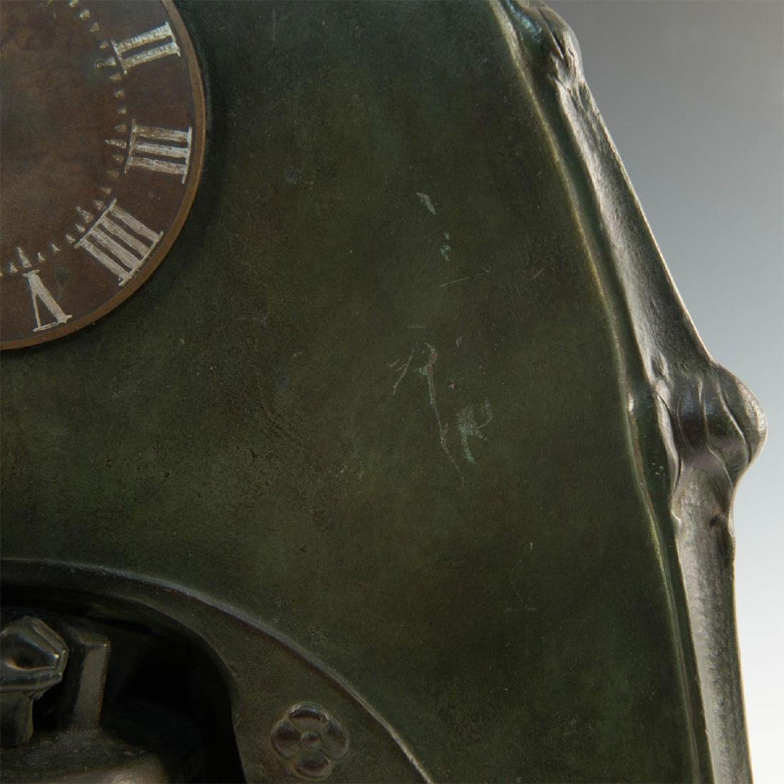 EARLY 20TH CENTURY ART NOUVEAU BRONZE CLOCK, AFTER - 5
