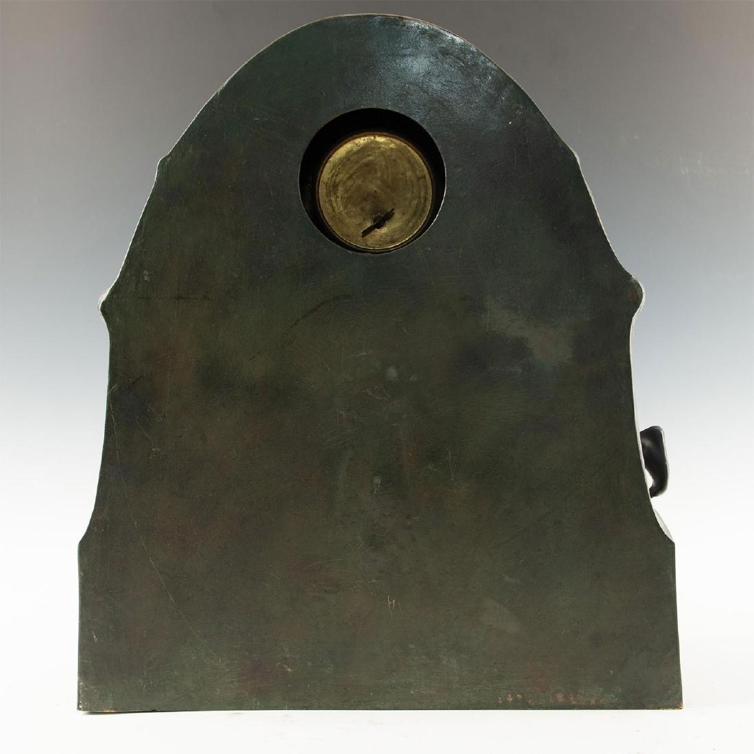 EARLY 20TH CENTURY ART NOUVEAU BRONZE CLOCK, AFTER - 7