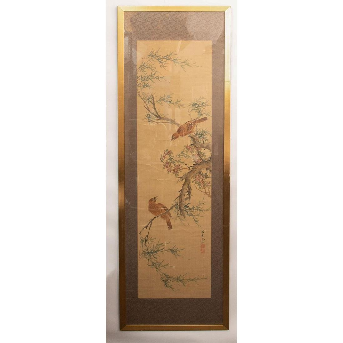 CHINESE WATERCOLOR ON SILK PAINTING - 2