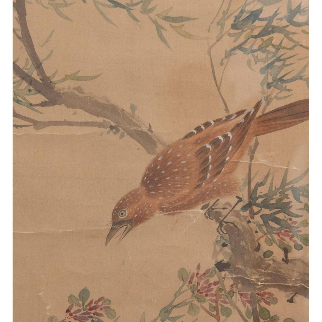 CHINESE WATERCOLOR ON SILK PAINTING - 4