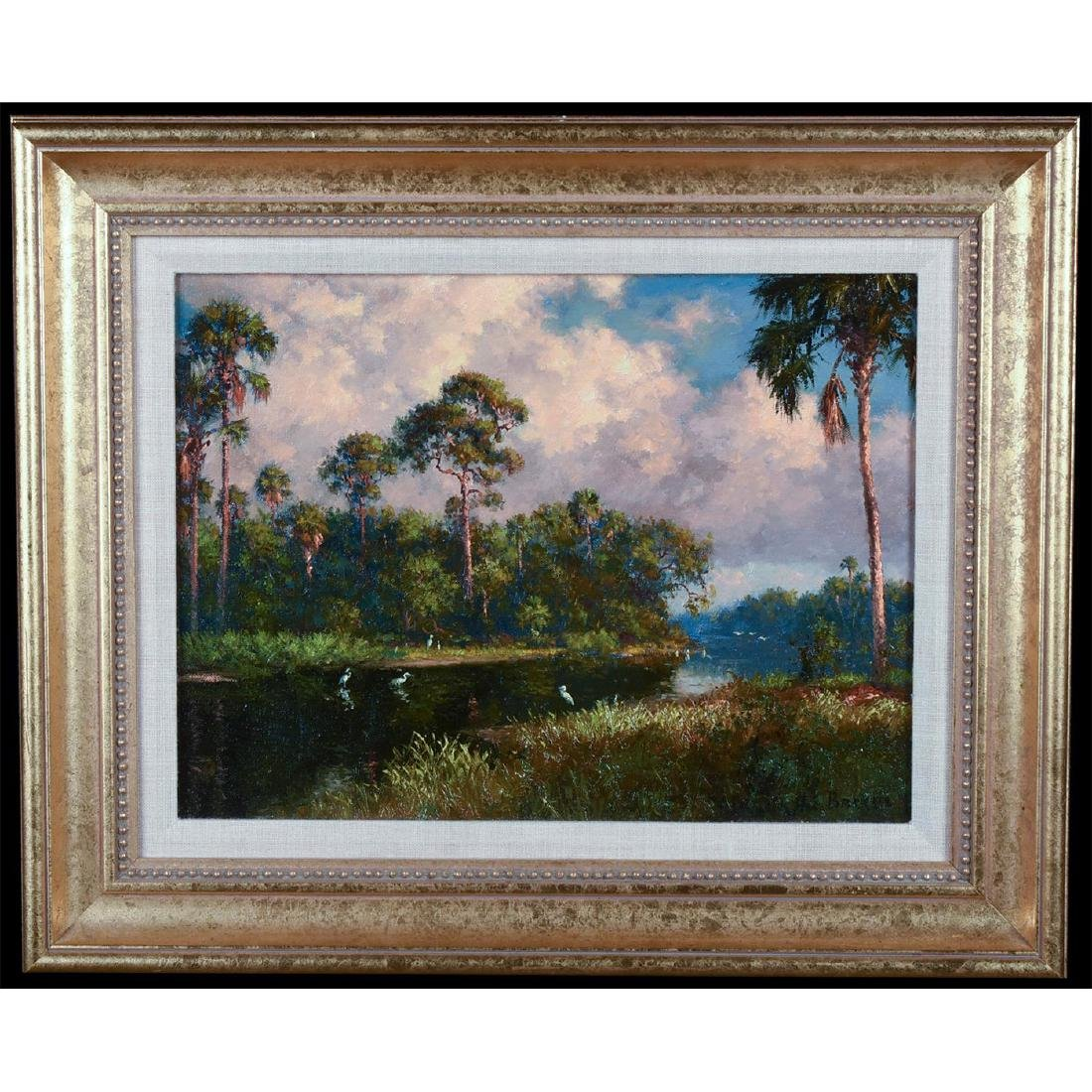 OIL PAINTING BY A.E. BACKUS (1906-1990)