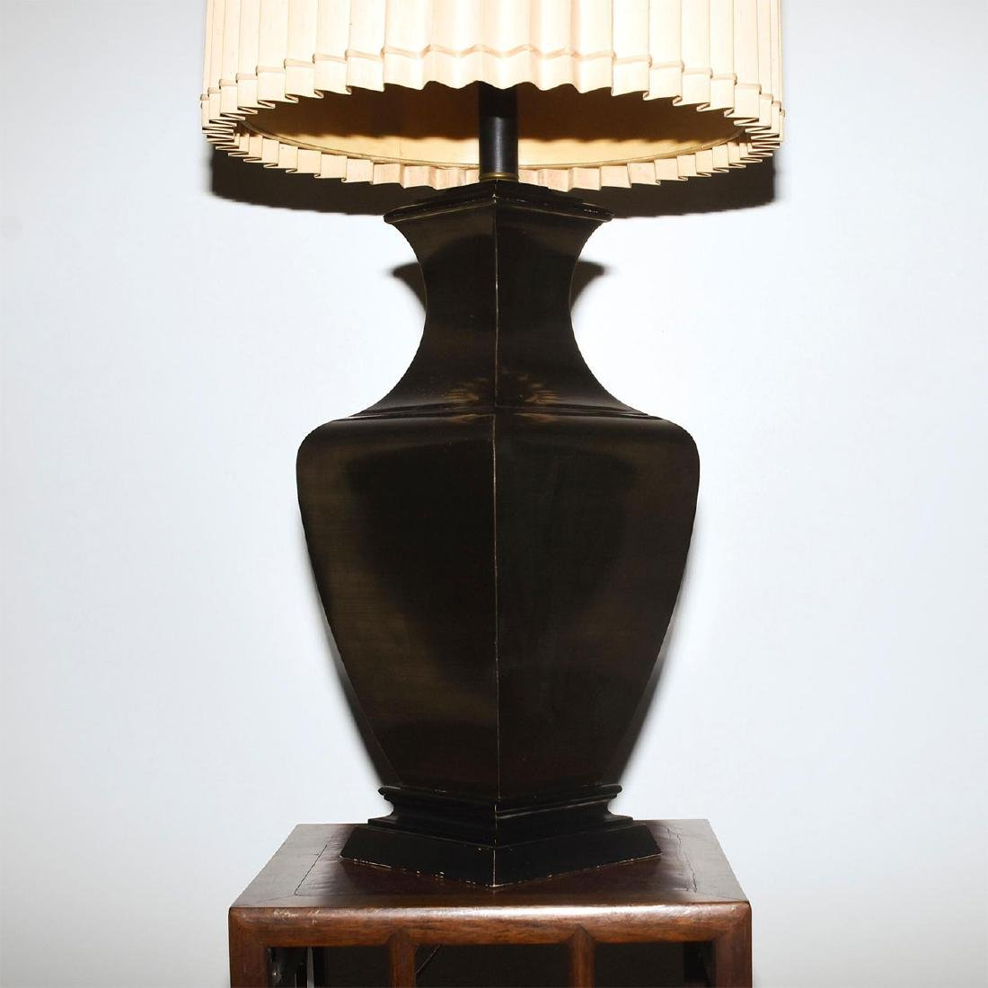 RETRO FAUX BRONZE COLOSSAL LAMPS WITH SHADES - 3