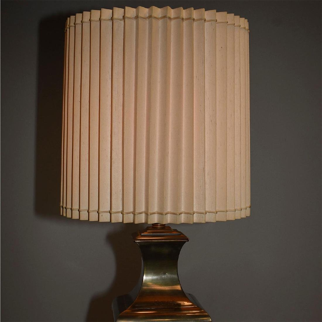RETRO FAUX BRONZE COLOSSAL LAMPS WITH SHADES - 7