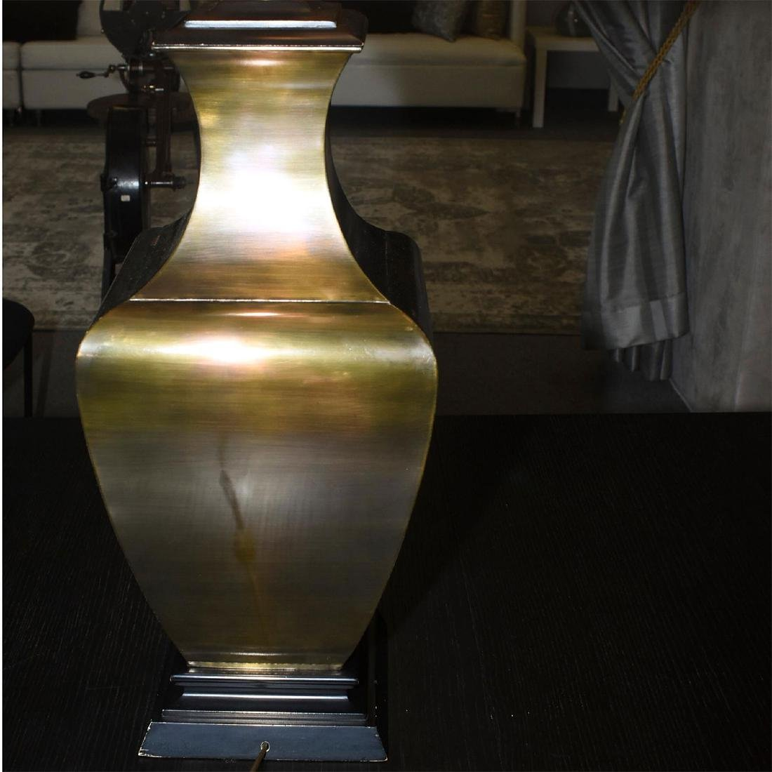RETRO FAUX BRONZE COLOSSAL LAMPS WITH SHADES - 8