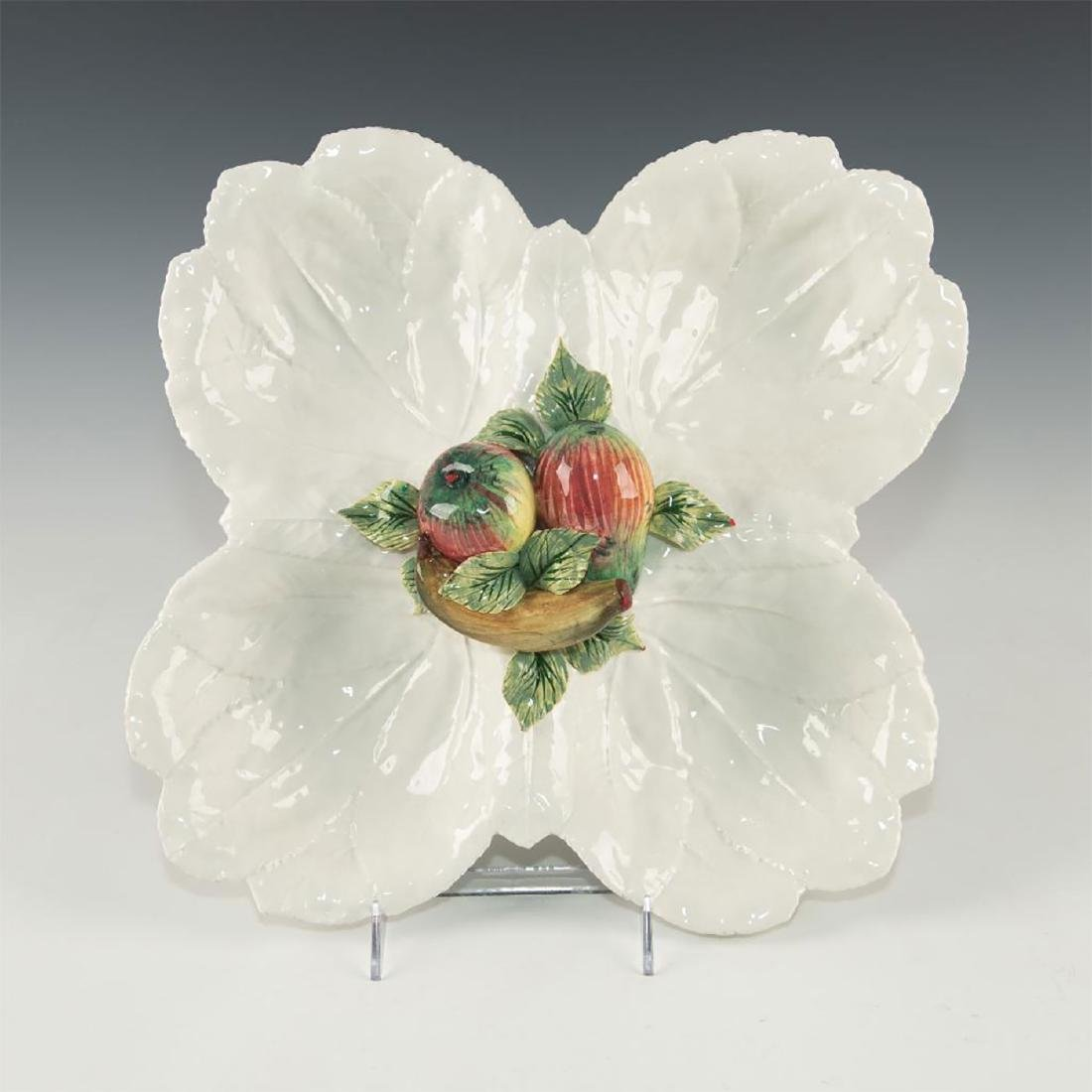 PORCELAIN SERVING DISH WITH CENTRAL FRUIT DECORATION - 3