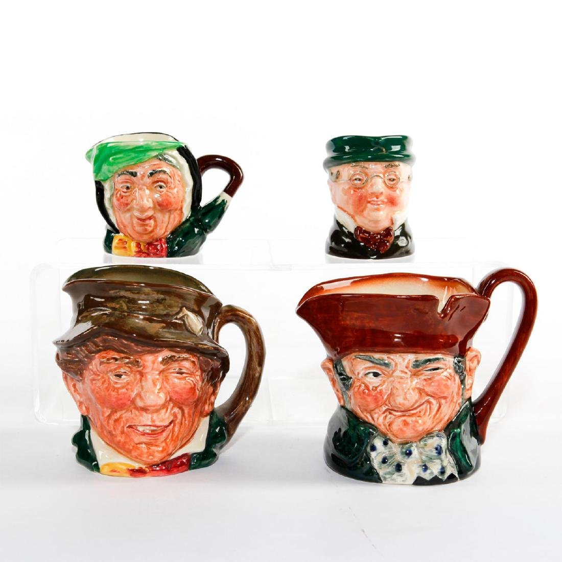 GROUP OF FOUR ROYAL DOULTON CHARACTER JUGS