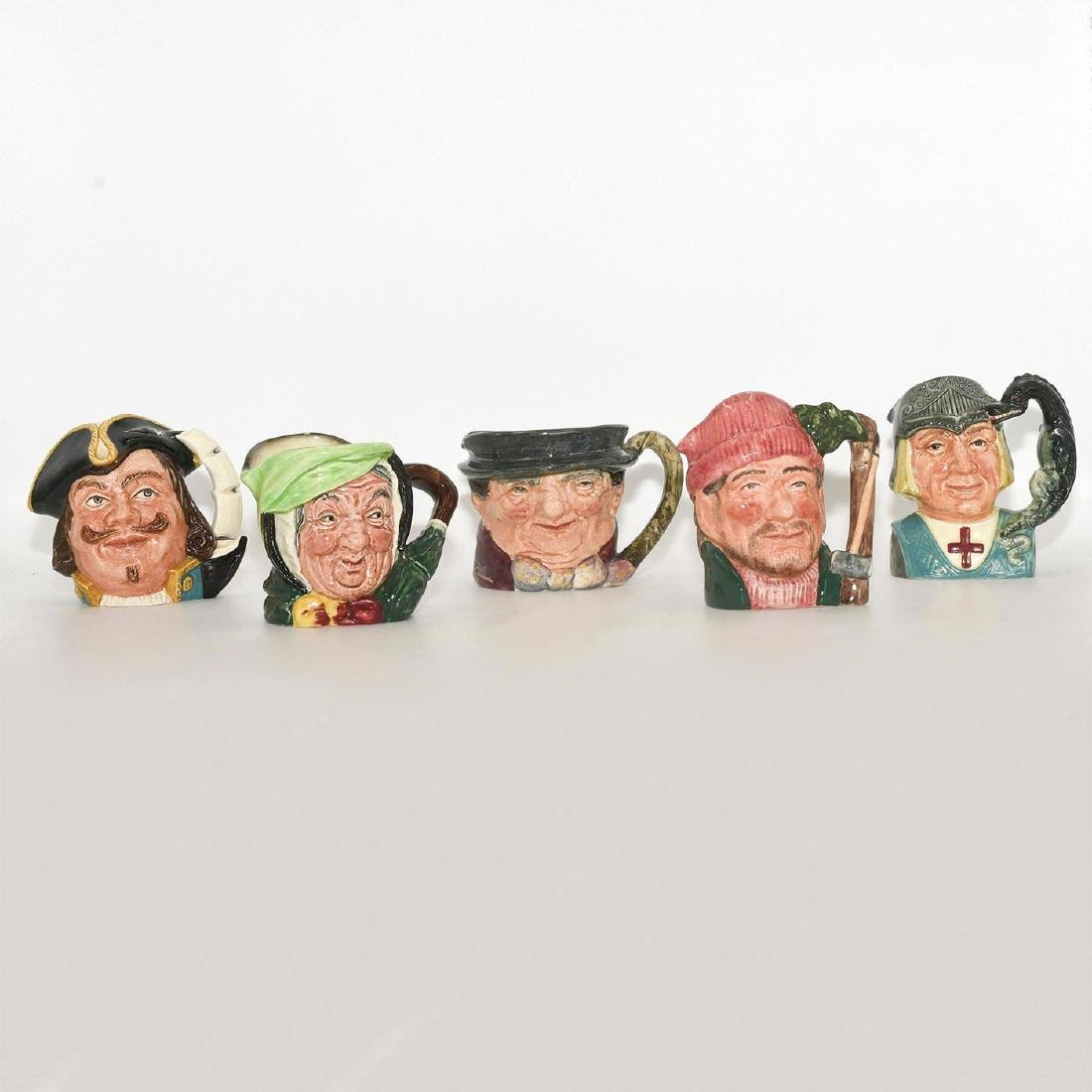 ROYAL DOULTON 5 PC SMALL CHARACTER JUGS