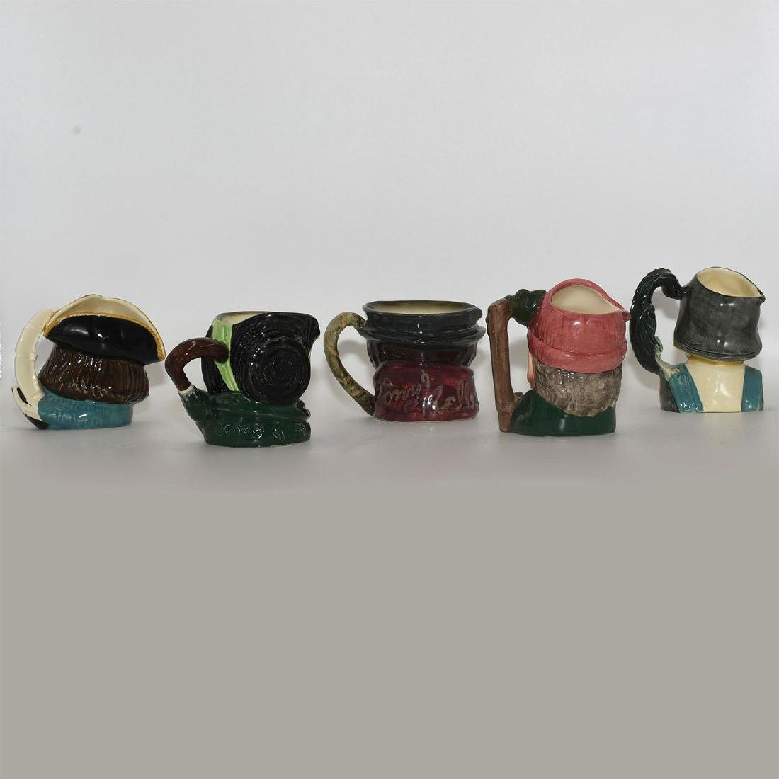 ROYAL DOULTON 5 PC SMALL CHARACTER JUGS - 2