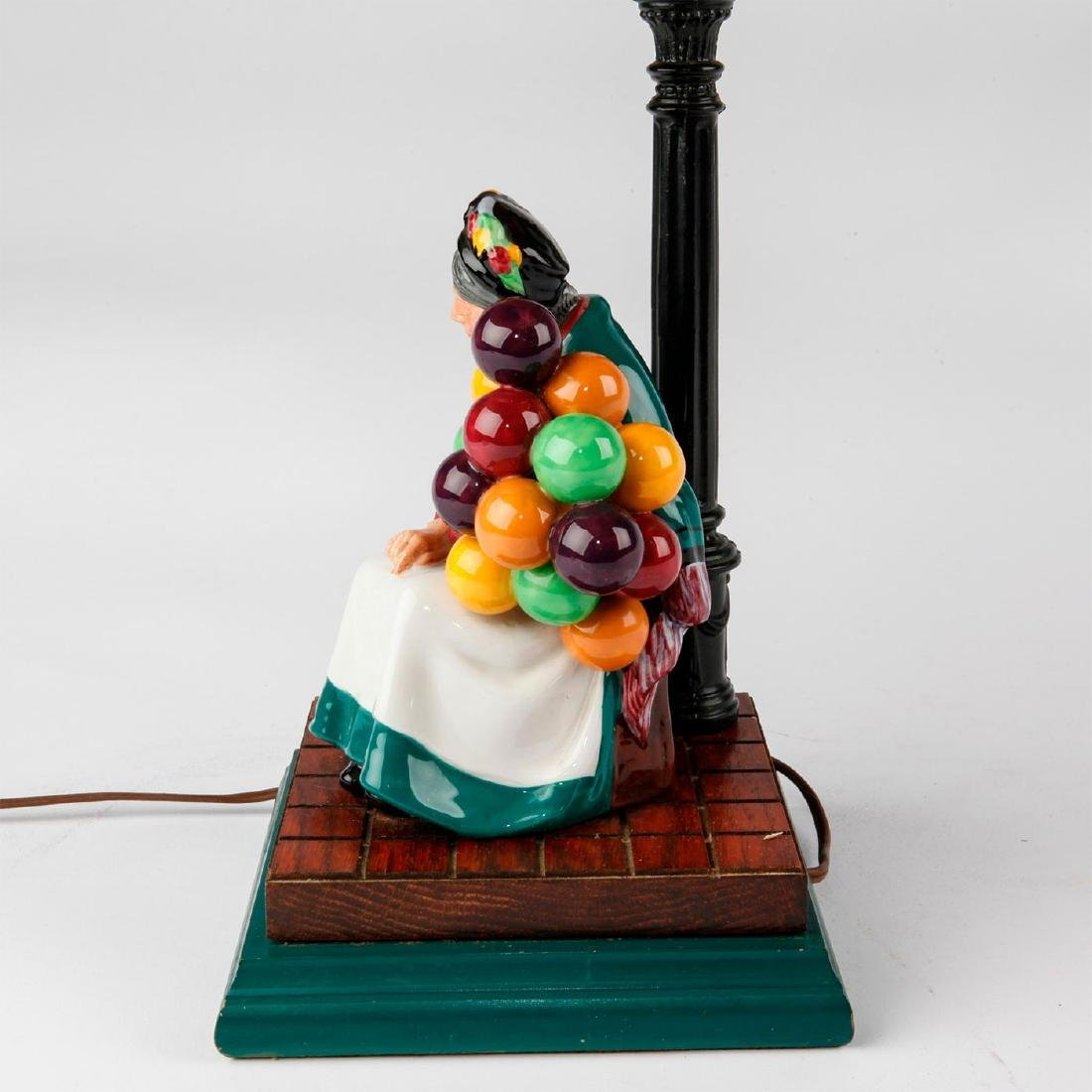 ROYAL DOULTON FIGURINE LAMP THE OLD BALLOON SELLER HN - 7