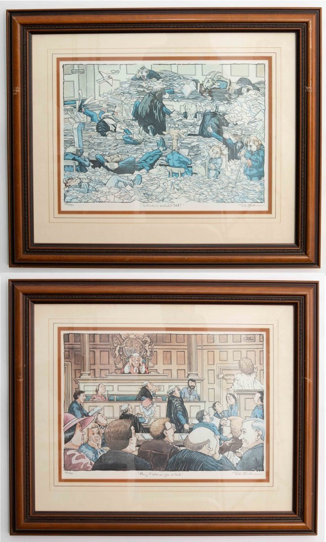SET OF 2 SIGNED BOB FARNDON LIMITED EDITION LITHOGRAPHS