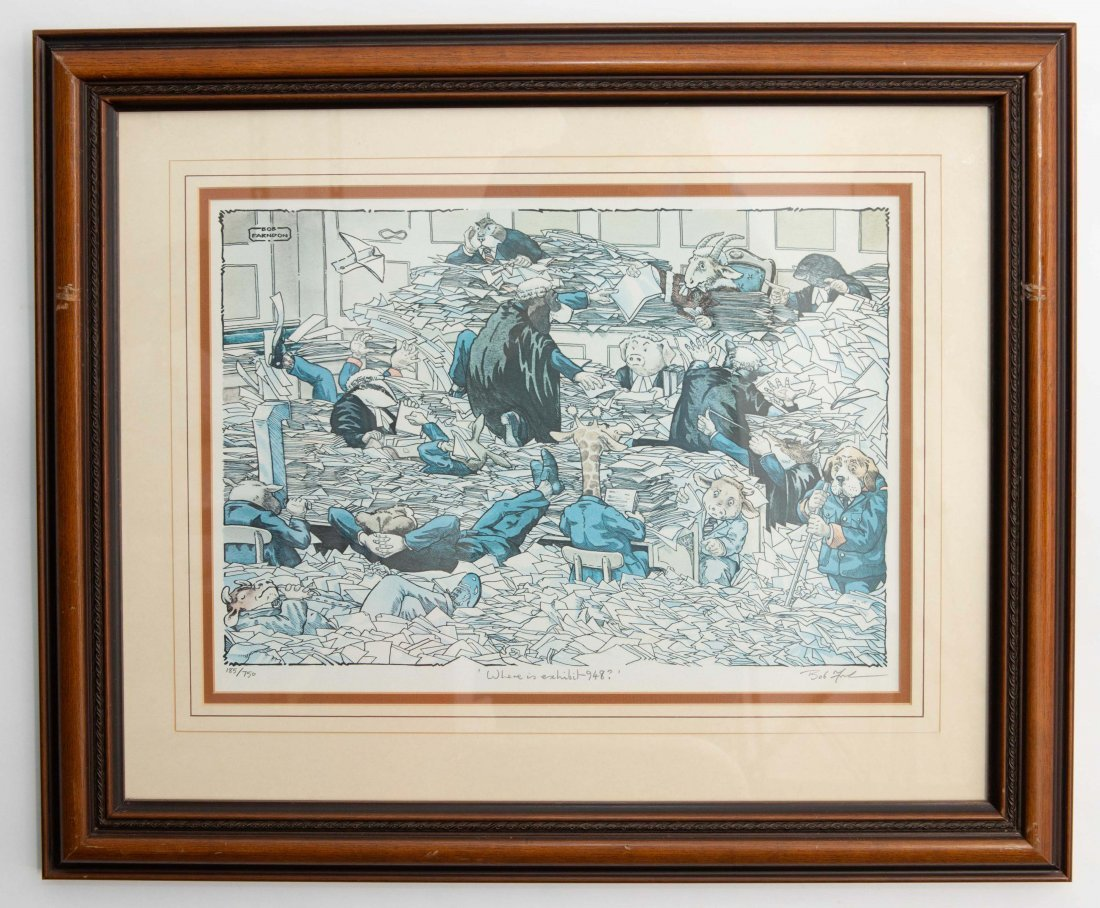 SET OF 2 SIGNED BOB FARNDON LIMITED EDITION LITHOGRAPHS - 2