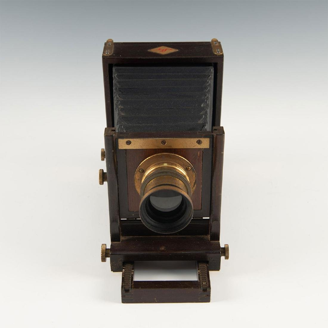 AGFA ANSCO WOODEN CAMERA, BACK ADAPTER AND GROUND GLASS