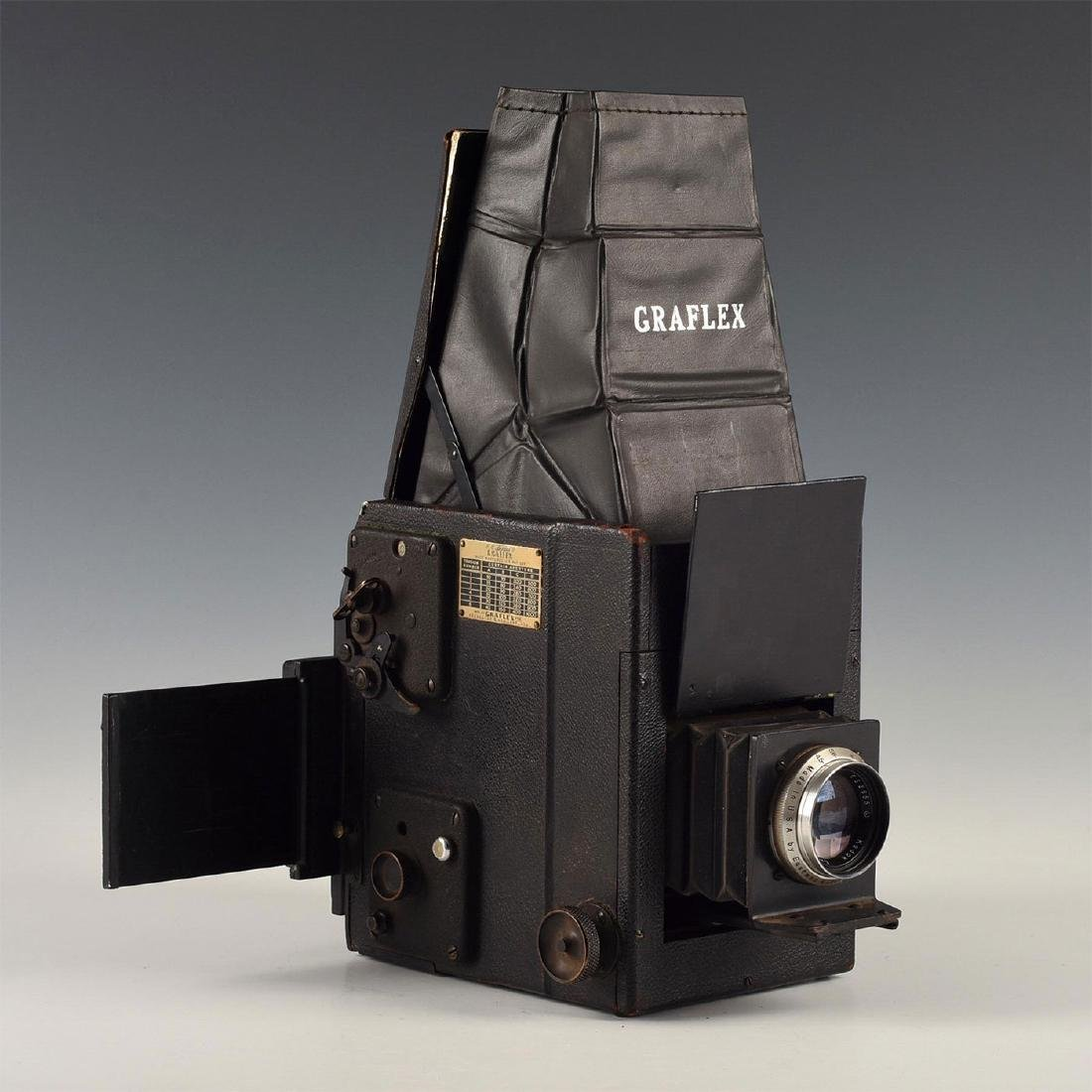 SMALL GRAFLEX R.B. SERIES B FOLDING SHEET FILM CAMERA