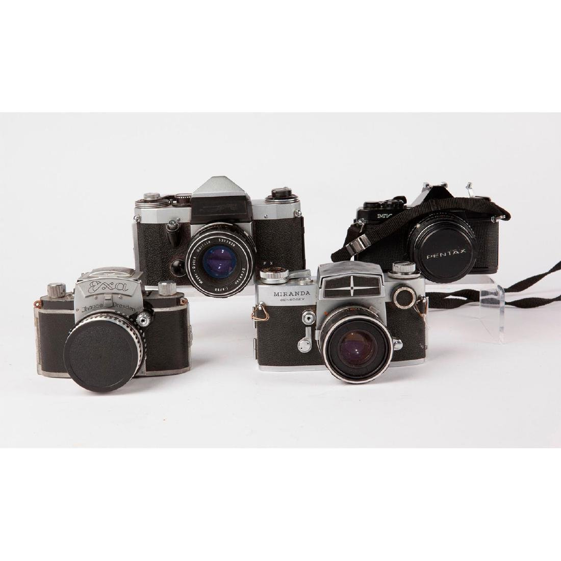GROUP OF 4 VINTAGE MID CENTURY 35MM SLR CAMERAS
