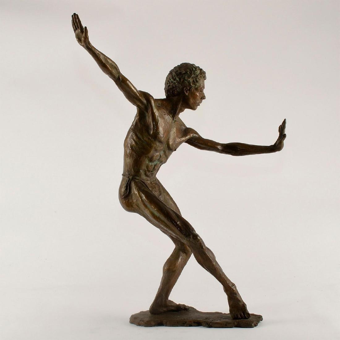 BRONZE SCULPTURE OF DANCER BY DAVID HEUNEGARDT