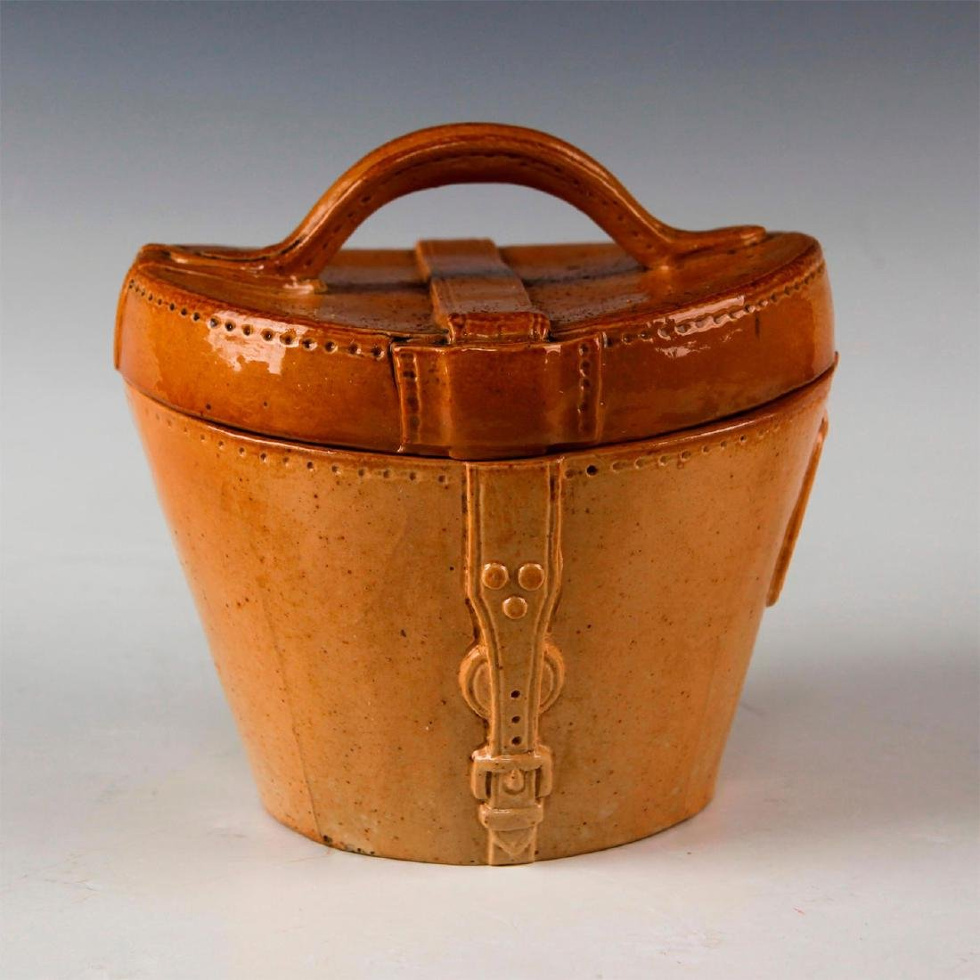 DOULTON LAMBETH LEATHER WARE STONEWARE, HAT BOX