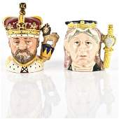 ROYAL DOULTON JUGS QUEEN VICTORIA, KING EDWARD VII
