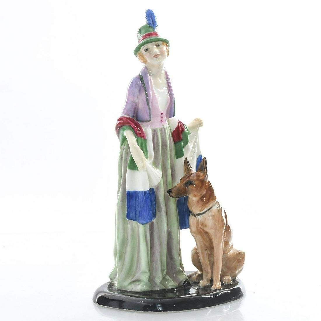 ROYAL DOULTON FIGURINE ART DECO ROSAMUND W. DOG HN1320