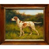 OIL ON CANVAS, ENGLISH POINTER