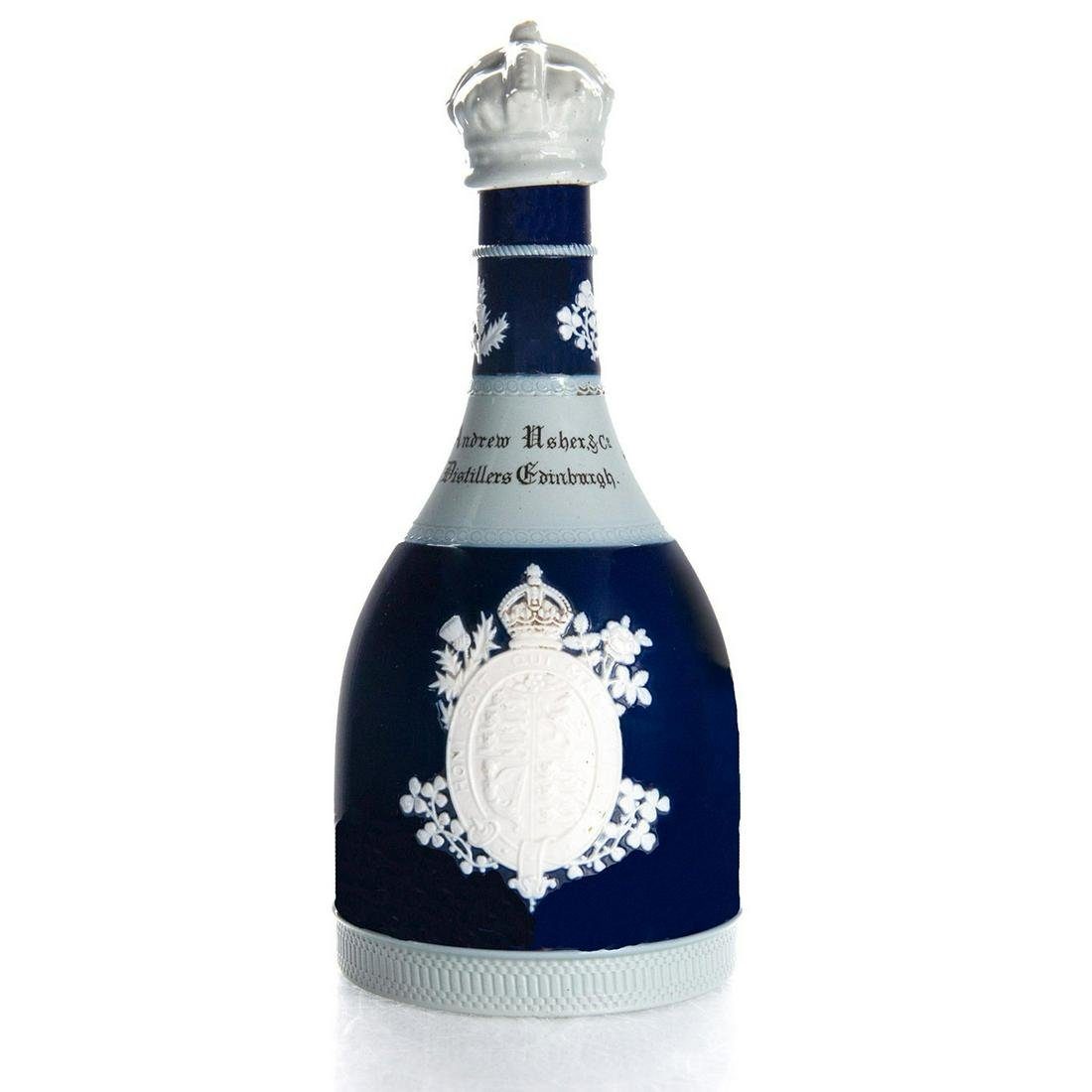 COPELAND LATE SPODE KING GEORGE V AND QUEEN MARY BOTTLE
