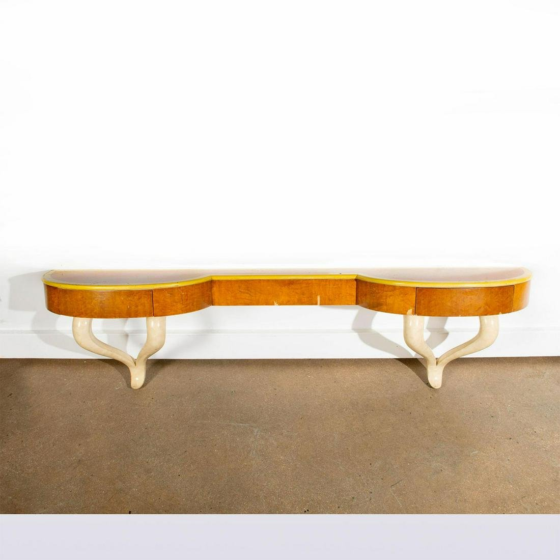 MID CENTURY MODERN WALL MOUNTED CONSOLE TABLE