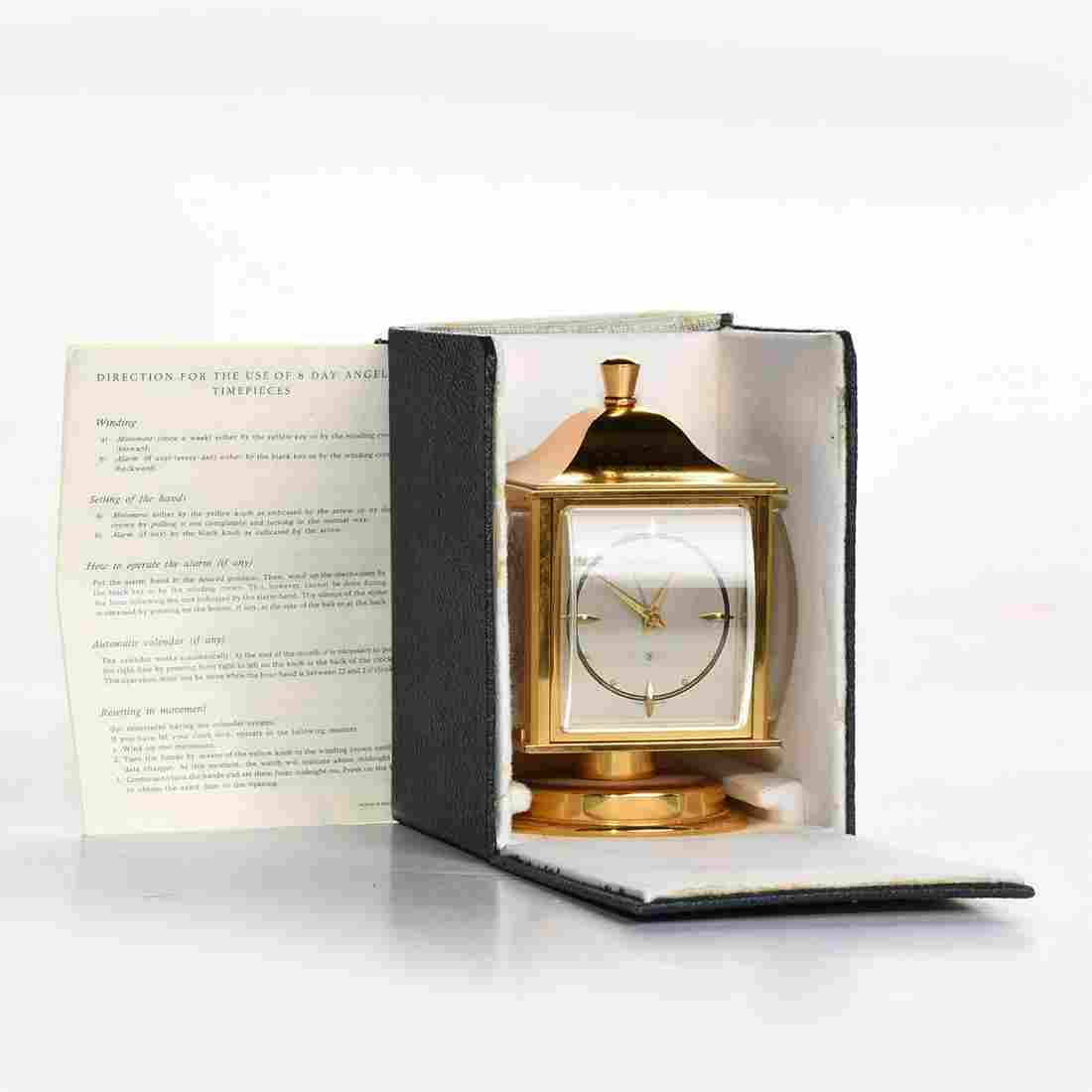 ANGELUS SWISS TABLE CLOCK WITH WEATHER STATION