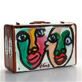 PETER KEIL PAINTED SUITCASE, THE ROLLING STONES