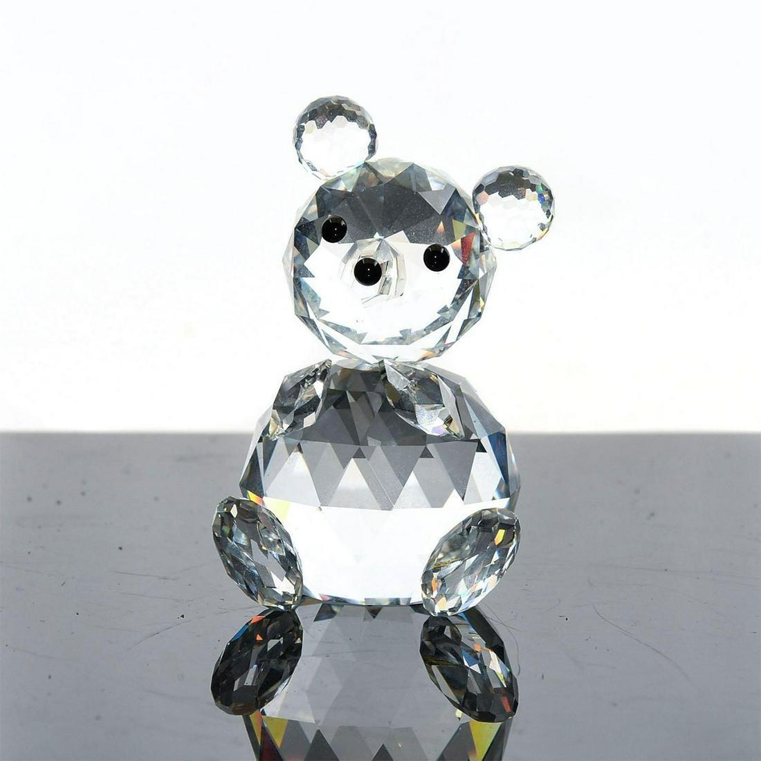 SWAROVSKI SILVER CRYSTAL FIGURE, TEDDY BEAR