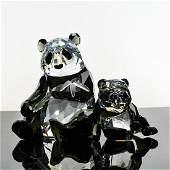 2 SWAROVSKI CRYSTAL FIGURINES, PANDAS
